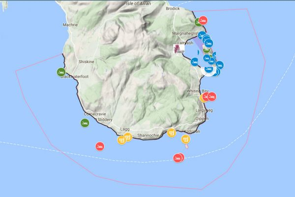 Diving and snorkelling interactive map