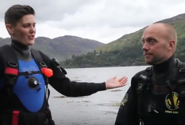 Scottish divers