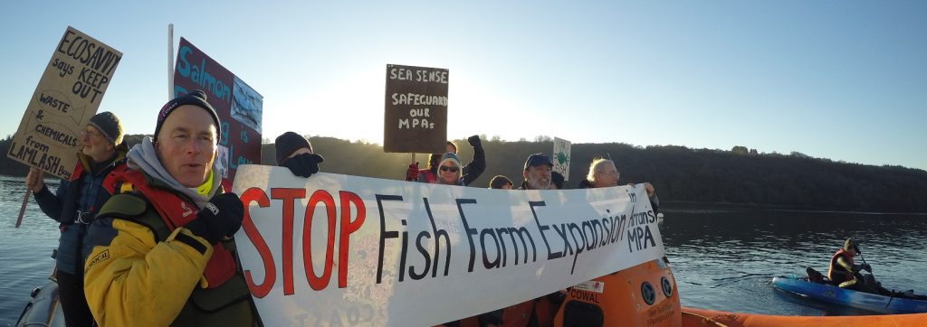 Fish Farm protest